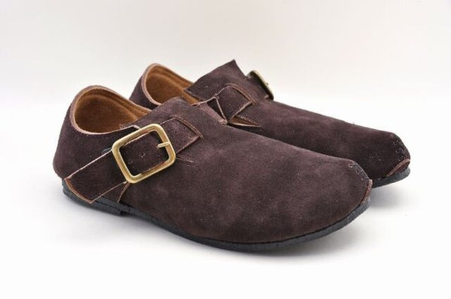 #Tokuyama Shoes:『plie NM-shoes』dark-brown suede leatherの画像1枚目