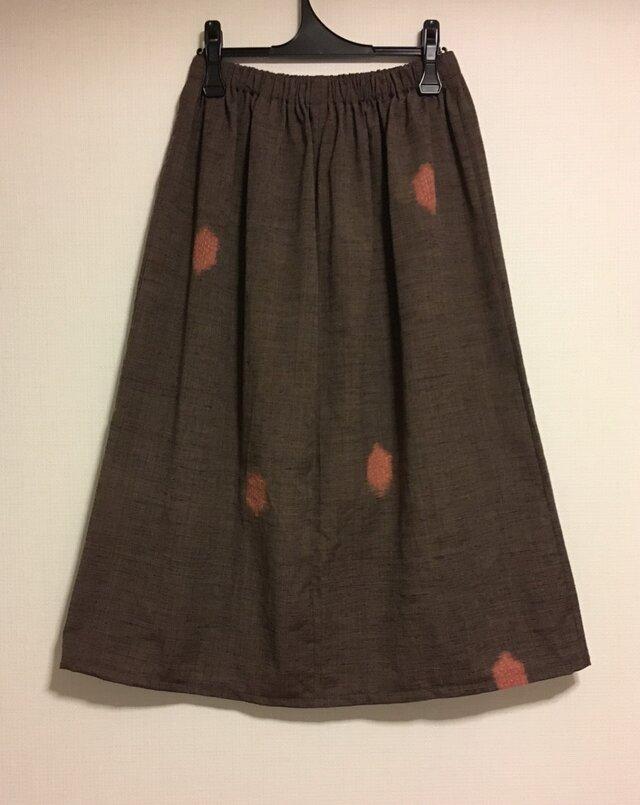 【再値下げ】着物リメイク ウールのギャザースカートの画像1枚目