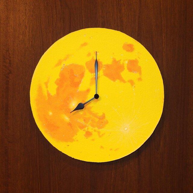 満月の壁掛け時計 <yellow>の画像1枚目