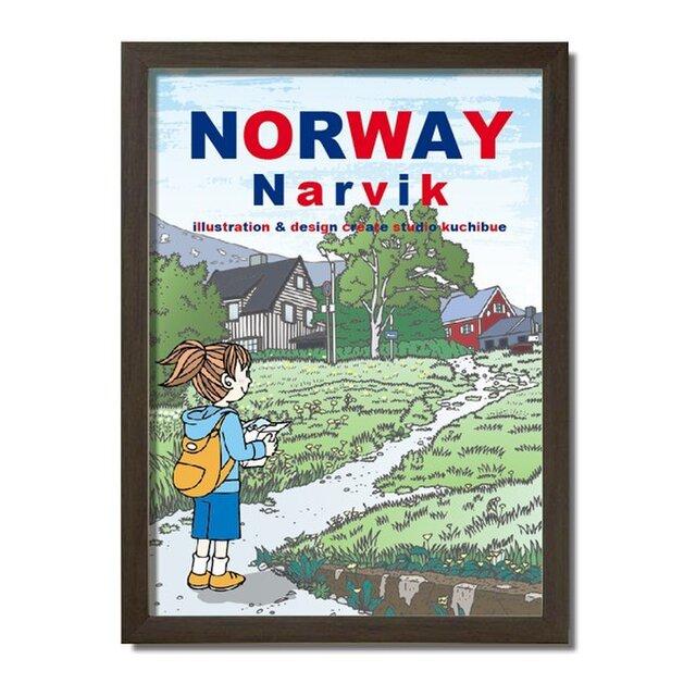 ポスターA3サイズ 最北の坂道/(ノルウェー・ナルヴィク)の画像1枚目
