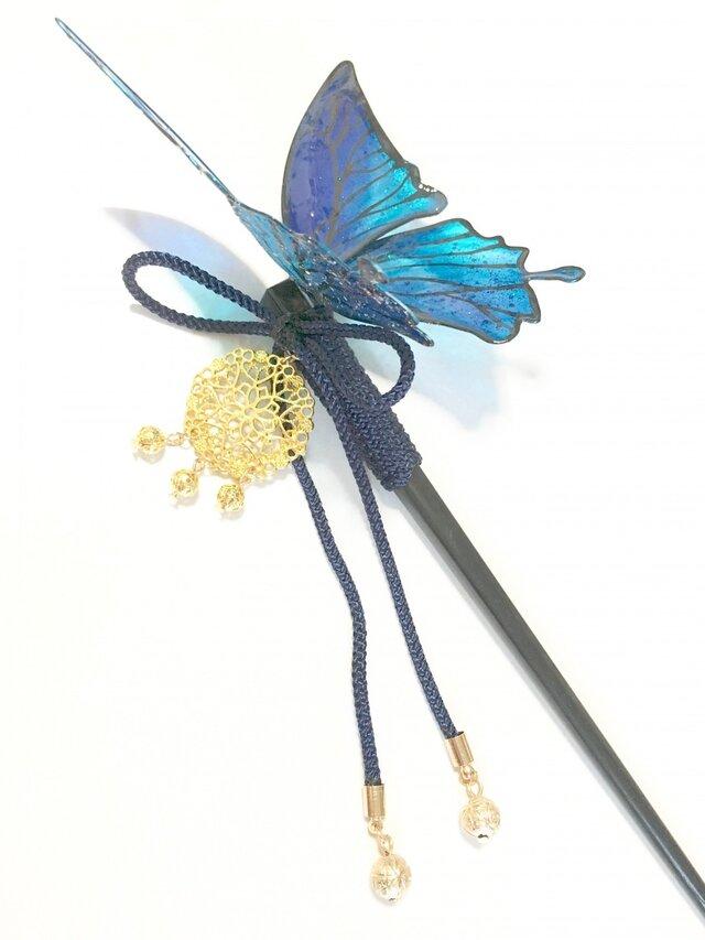 夢幻の蝶の和かんざしの画像1枚目