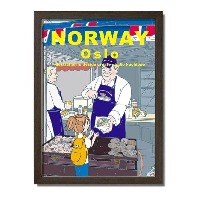 ポスターA3サイズ サーモンバーガー(ノルウェー・オスロ)の画像1枚目