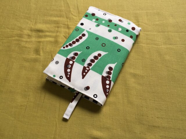 文庫本用ブックカバー soramame greenの画像1枚目