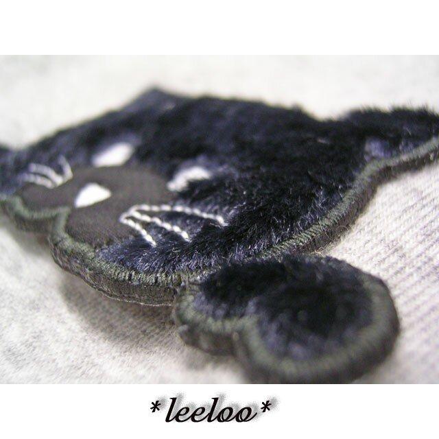 ★黒猫★アップリケ刺繍★猫ワッペン★の画像1枚目