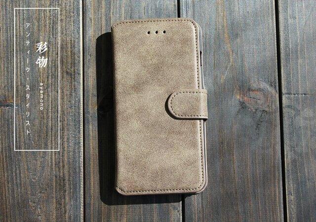 2082f177c 【受注製作】シックな美 なめらか牛革iphone7plusケース 丈夫な作り 灰色 K899