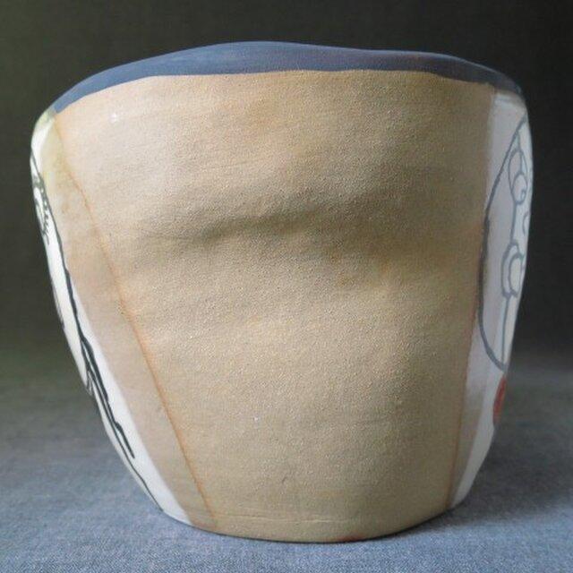 送料無料ワインクーラー26イラスト入り 陶芸家オリジナル陶器