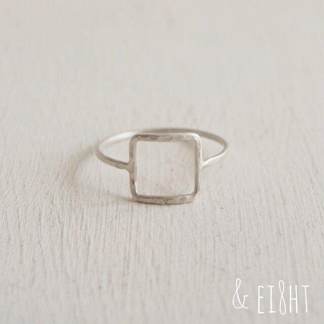 【再販】- Silver -  Square  Ringの画像1枚目