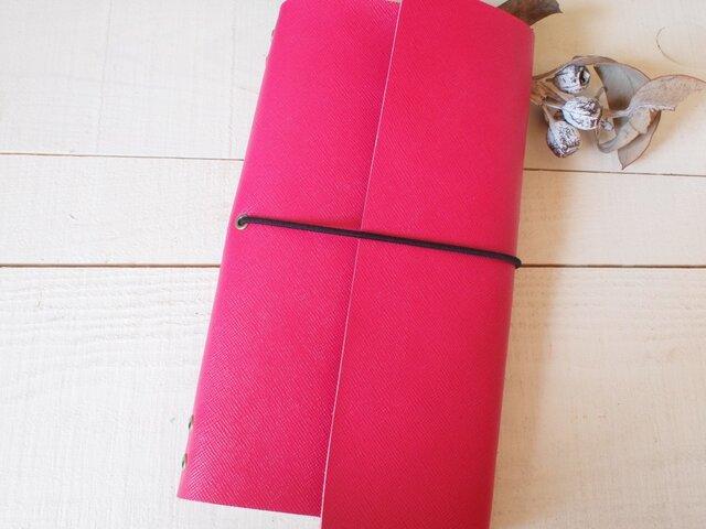 本革 A5変形手帳カバー 直線切り口 モレ・トラベラーズサイズの画像1枚目