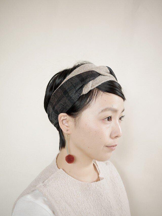 patchwork turban e (woolmix 16AW)の画像1枚目