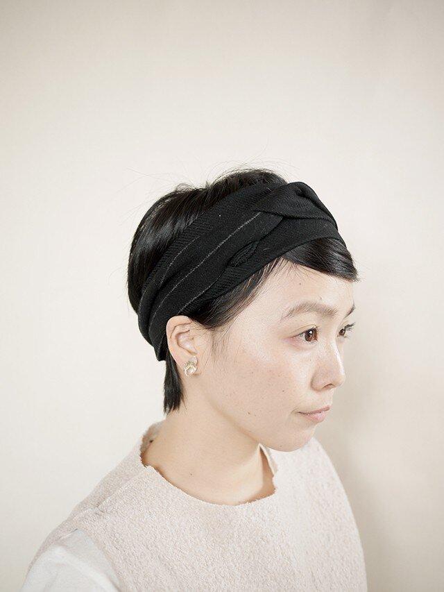 patchwork turban d (woolmix 16AW)の画像1枚目