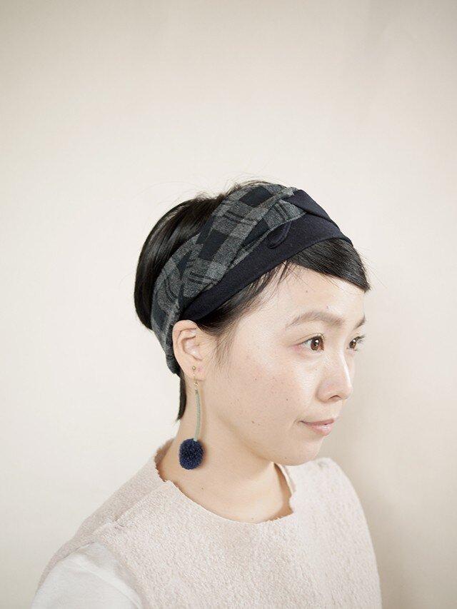 patchwork turban b (woolmix 16AW)の画像1枚目