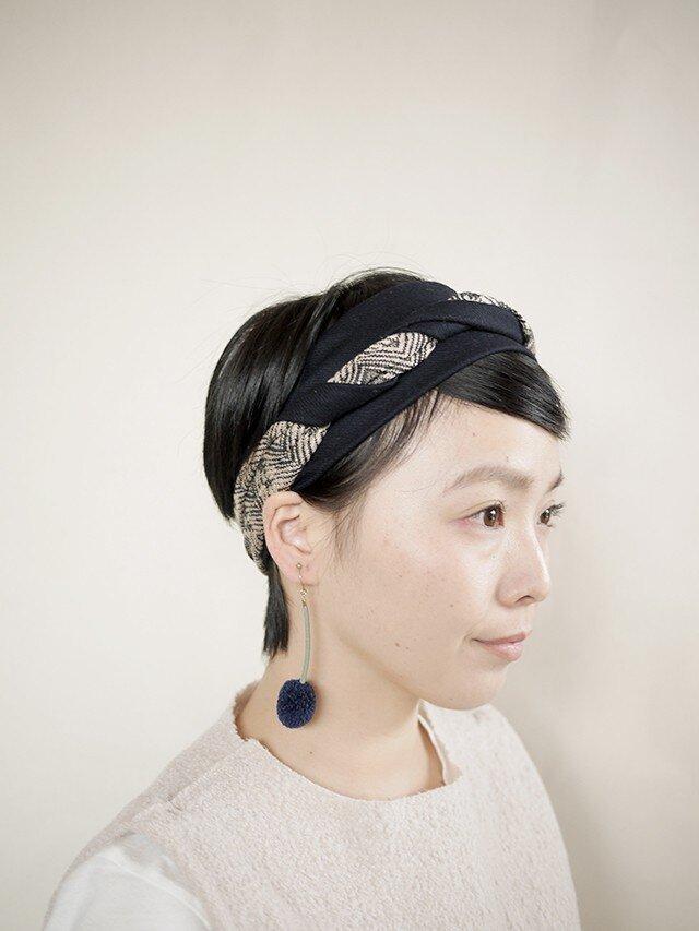 patchwork turban a (woolmix 16AW)の画像1枚目