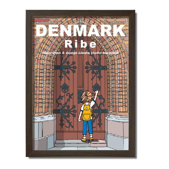 ポスターA3サイズ 大聖堂の扉(デンマーク・リーベ)の画像1枚目