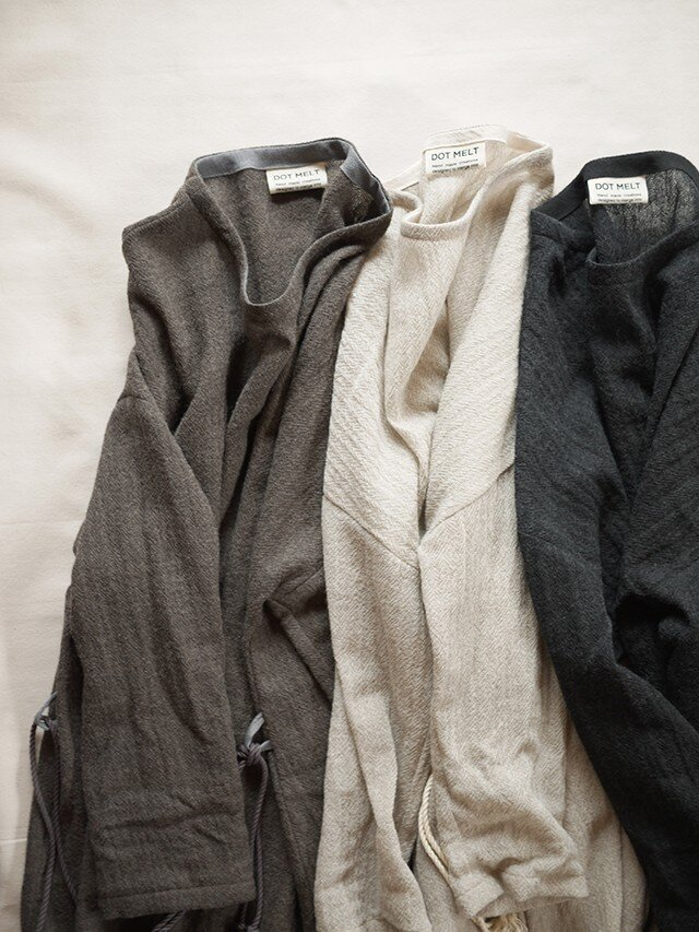 wool gauze onepiece <Light charcoal>の画像1枚目