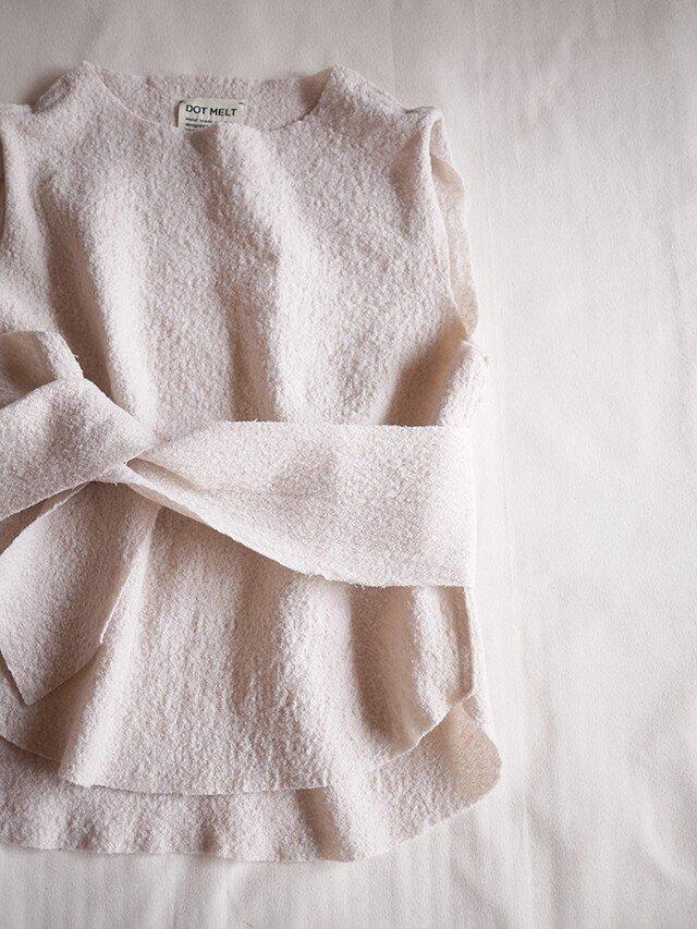 compress wool vest <kinari>の画像1枚目