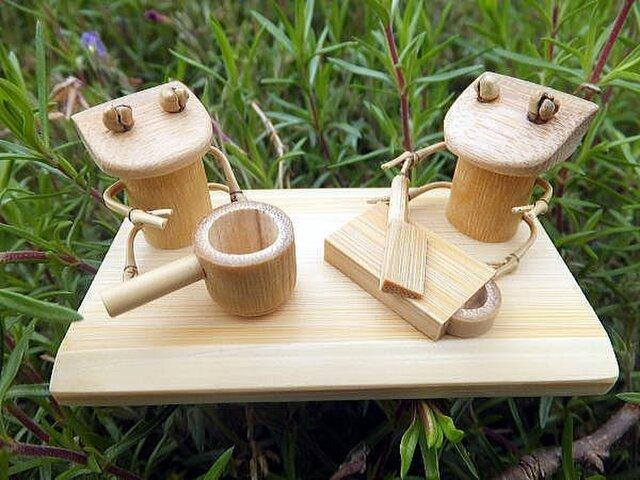 竹の温もり~カエル(ままごと)の画像1枚目