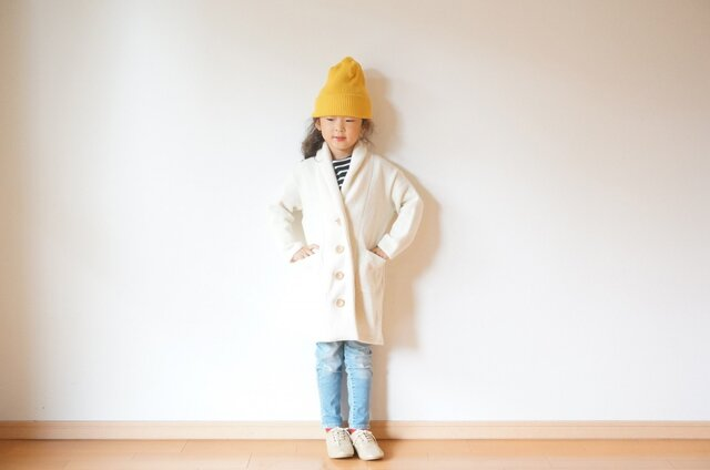 +SALE+ Shawl collar knit cardigan 90,100,110の画像1枚目