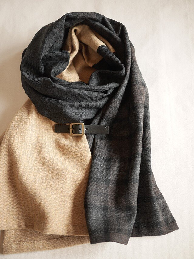 three cloth leathrbelt stole <16aw-d>の画像1枚目