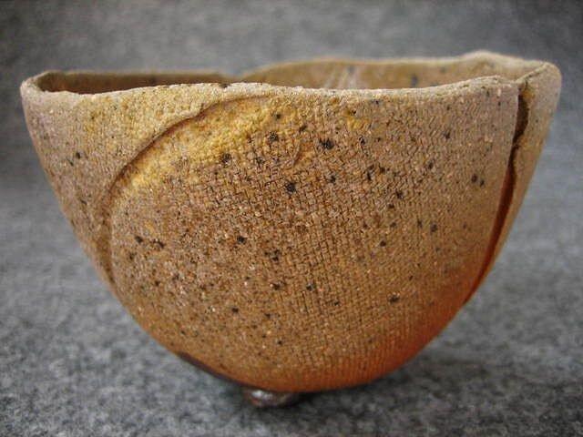 陶器 食器 焼締め鉄彩足付小鉢 陶芸家オリジナル(13)の画像1枚目
