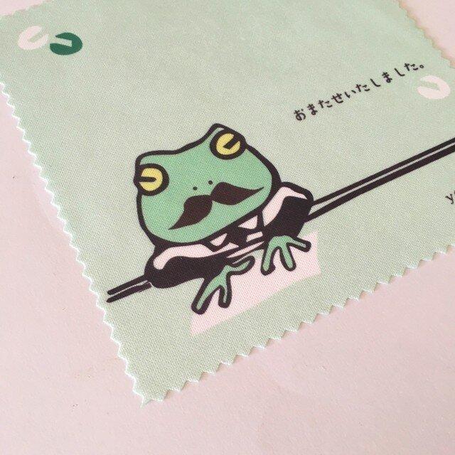 カエルの事務員さんめがね拭き(yamadama*オリジナル)の画像1枚目