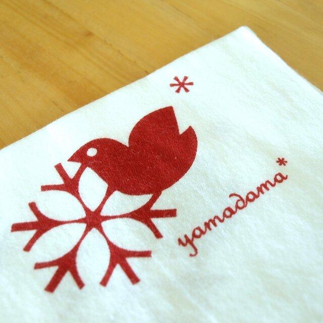 鳥柄の捺染てぬぐい yamadama *オリジナルの画像1枚目