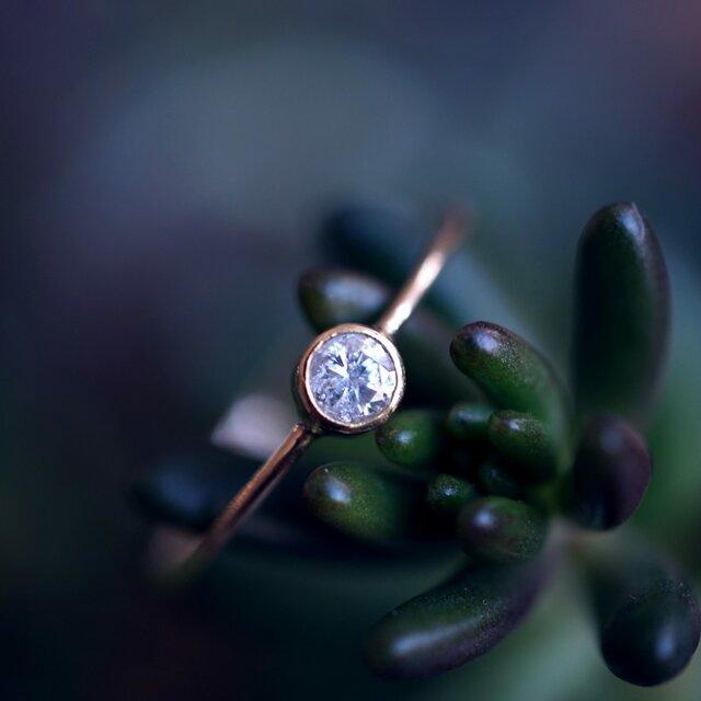 再販】K18ダイヤモンドのフクリンリング ~Mariaの画像1枚目