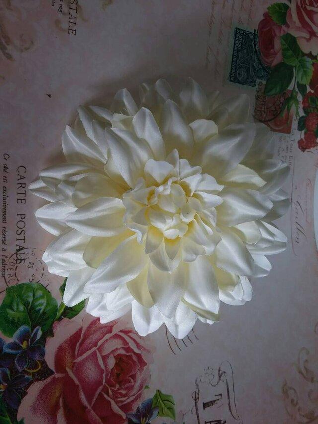 ダリアホワイト ヘッドドレスの画像1枚目