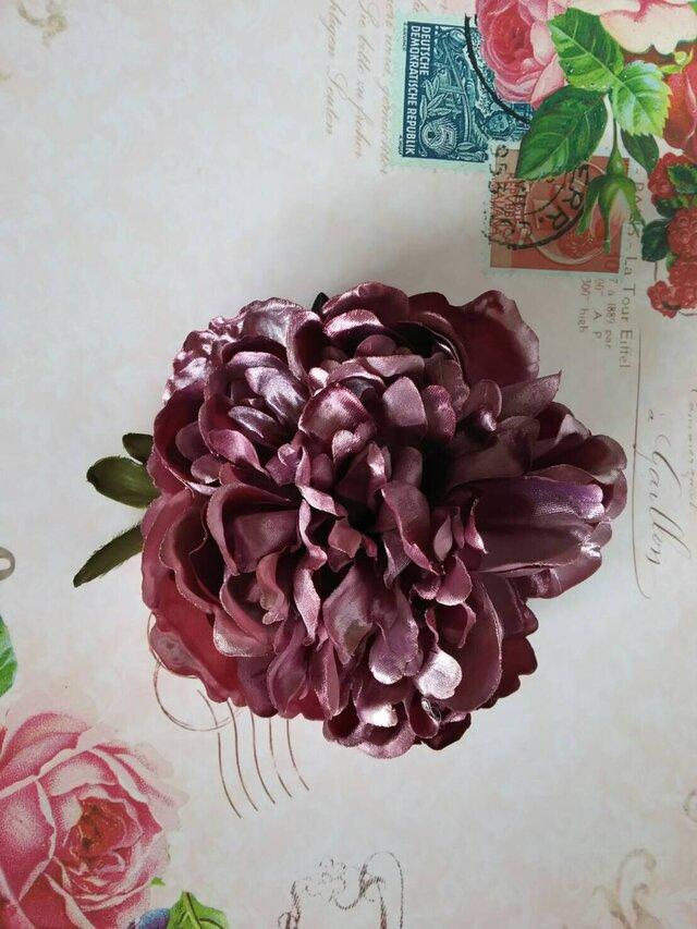 ピオニーアンティークピンクL ヘッドドレスの画像1枚目