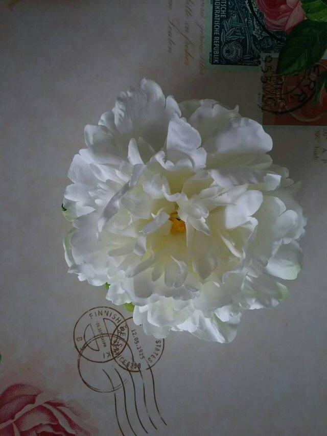 ピオニー ホワイトM  ヘッドドレスの画像1枚目