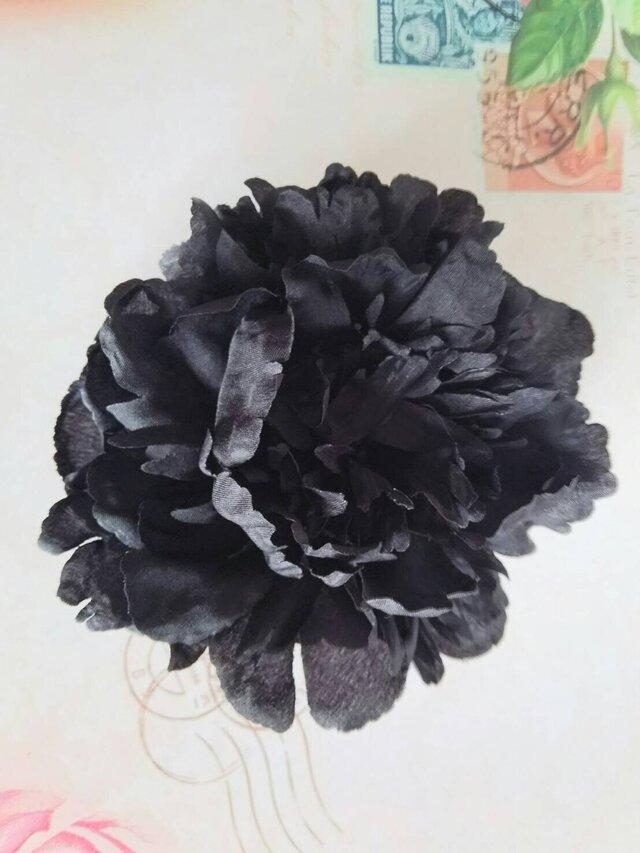 ピオニーブラックM ヘッドドレスの画像1枚目