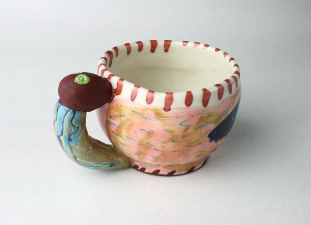可愛い虫っ子のマグカップ /陶器/可愛いマグカップ/陶芸家/ cute ceramicの画像1枚目