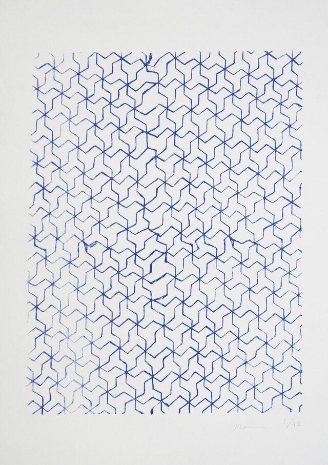 シルクスクリーン版画 幾何学模様の画像1枚目