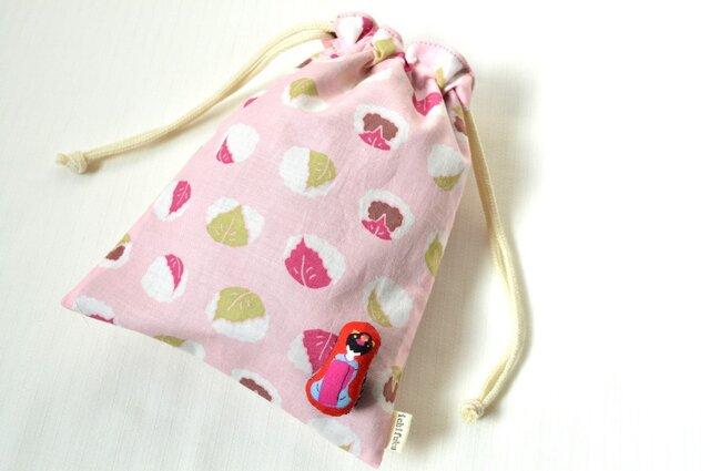 桜餅と舞妓さん・巾着袋 和菓子 さくらの画像1枚目
