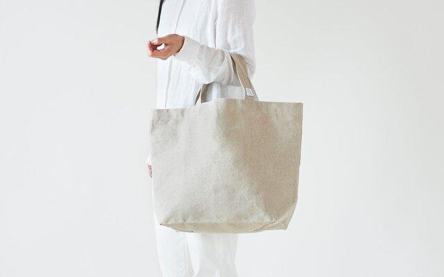 【受注後製作】リネン帆布のトートバッグ(M)の画像1枚目