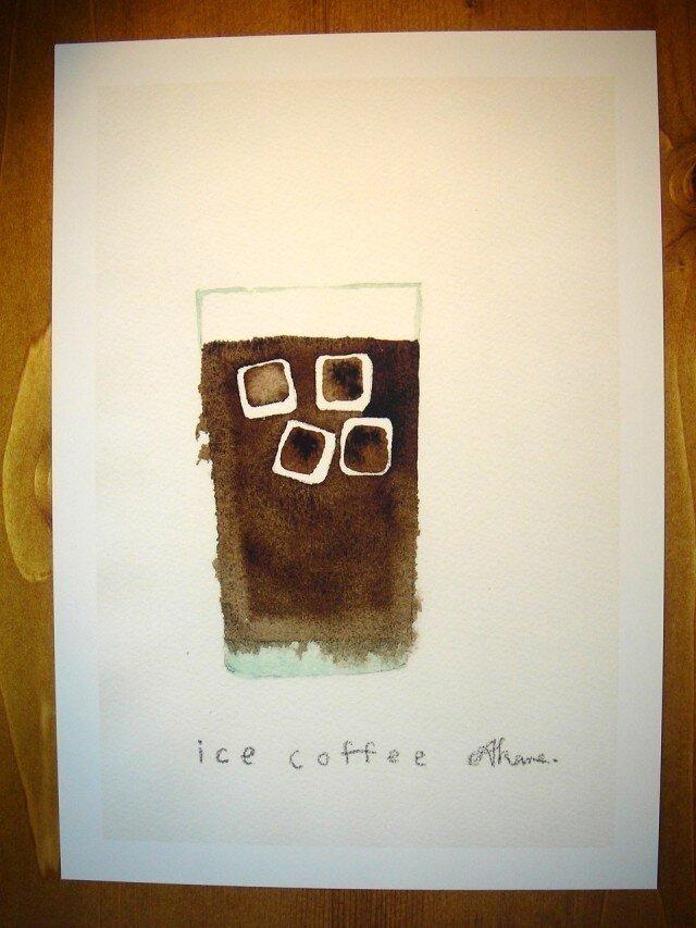 ゆる絵 ice coffee A4の画像1枚目