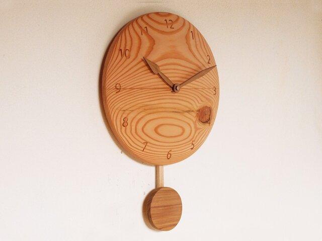 木製 振り子時計 松材1の画像1枚目