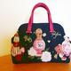 ゴブランハンドバッグ-香水柄の画像