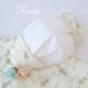 重ね付け用布マスク 小花柄綿レース マスクカバー 刺繍付き 口元ワイヤー入りの画像